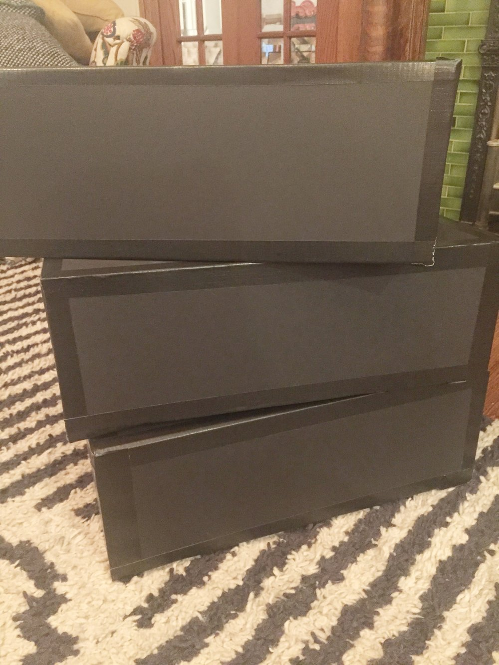 Step 1: Make 3 boxes