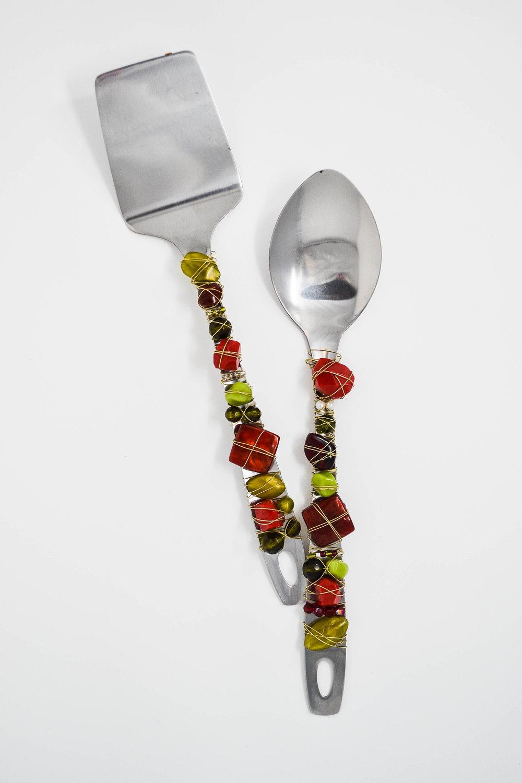 Easy DIY beaded serving spoon