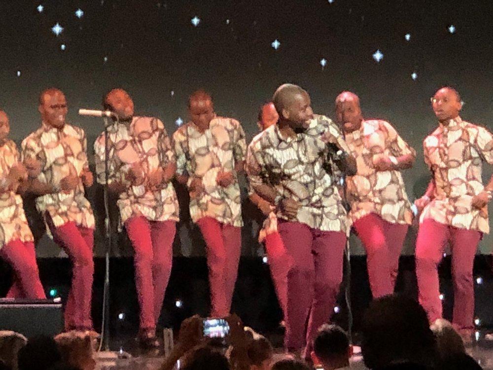 Kenyan Boys Choir kicking off the night