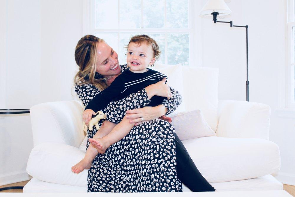 Deirdre enjoying snuggles with her kids!