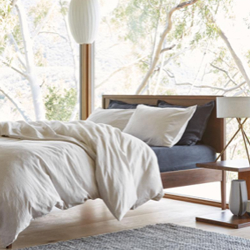 PARACHUTE - Modern bedding and bath essentials that partners with the Nothing But Nets campaign to send life-saving malaria-prevention bed nets to those in need.