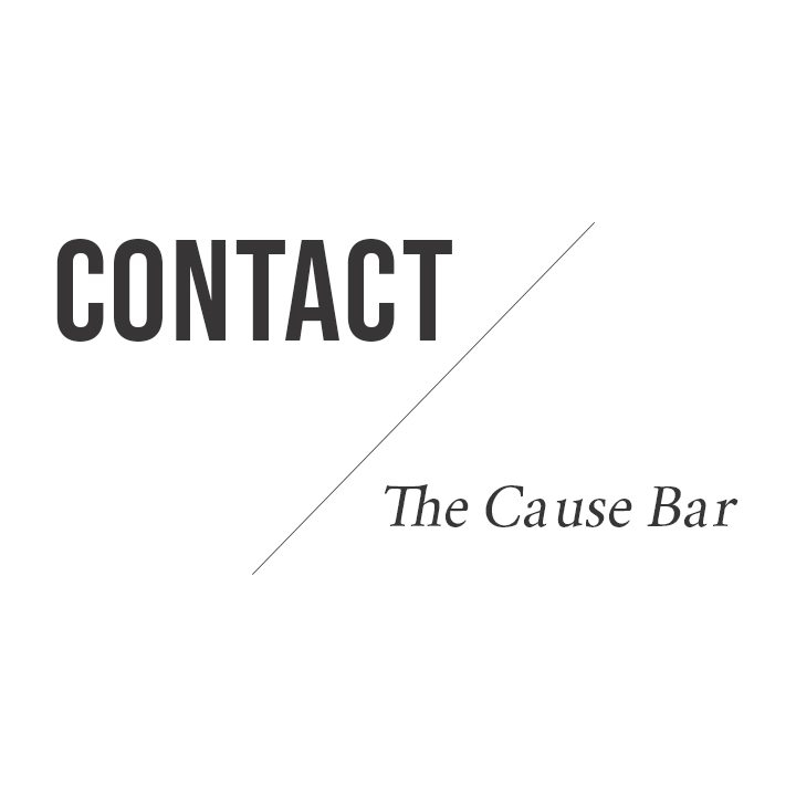 Contact Us | The Cause Bar
