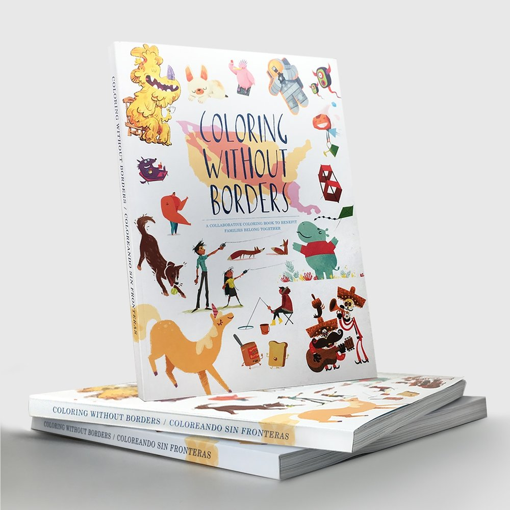 Coloring Without Borders Coloring Book $25