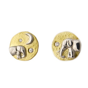 Shompole Mother and Baby Elephant Studs  $1,500
