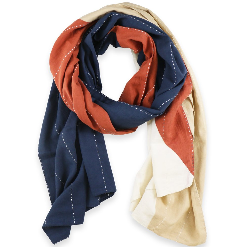 Anchal Cotton Straight Scarf – Rust  $72