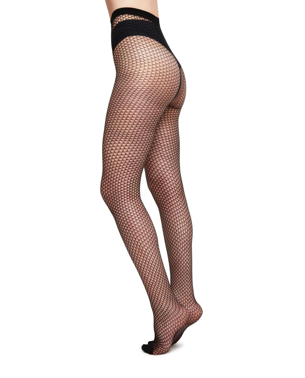 Swedish Stockings Vera Net Tights - Black.png