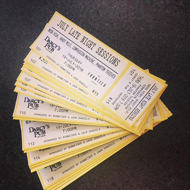 Just picked up tickets for our next show July 20th @darcyspubwestshore  Who wants to rock?!! 😎🙌🤘 . . . . #rock #rockandroll #goingfast #tickets #victoria #compassionmachine #liveconcert #concert #promotion
