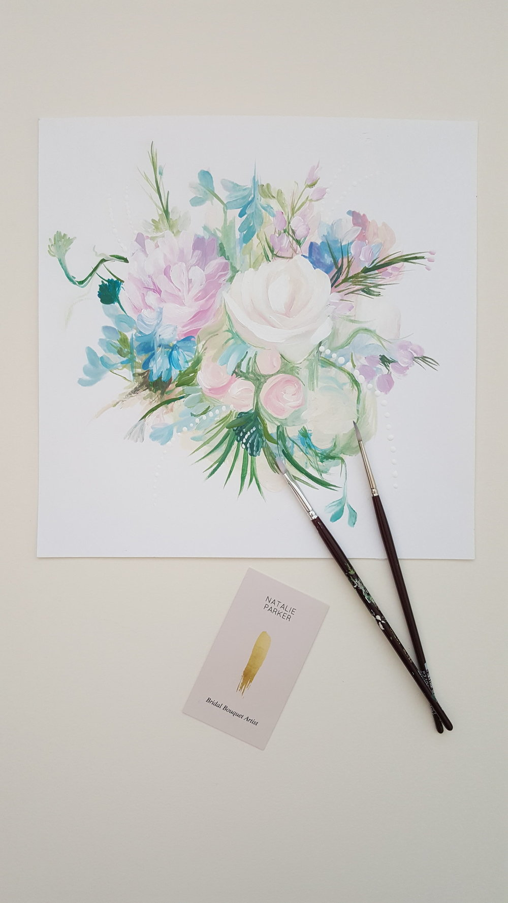 Painting #25 - 30 Days of Bouquets