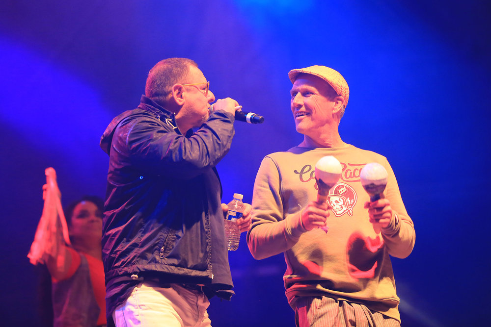 COOL BRITANNIA 2018 HAPPY MONDAYS BEZ AND SHAUN RYDER