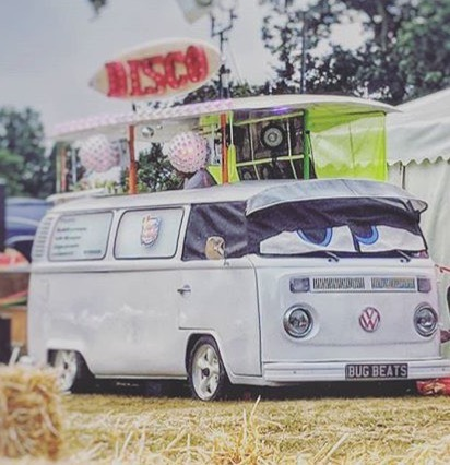 BUG BEATS - An added treat to this years festival, the classic Volkswagen camper will be pumping out epic tracks all weekend. You won't able to walk past without having a little boogie - all dance moves are accepted.