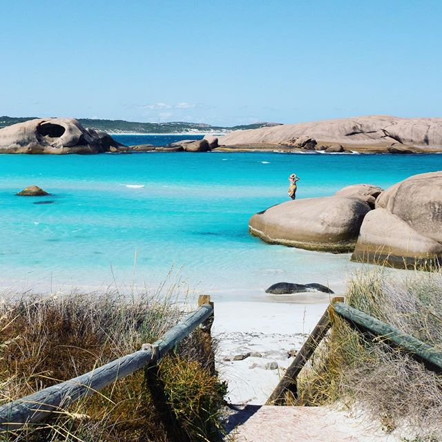 😳 I could NOT even deal with that colour. 💠💙 In fact, I couldn't even deal with the whole entire Great Ocean Drive in Esperance!! 🙌🏼 That coastline should be at the very top of the 'most beautiful coastlines in the world' list!! 💎🌊💦 RIDICULOUS! 🐬🦋🦕 [ok no dinosaurs there, but dolphins and butterflies... YES!!] #JUSTANOTHERDAYINWA @westernaustralia
