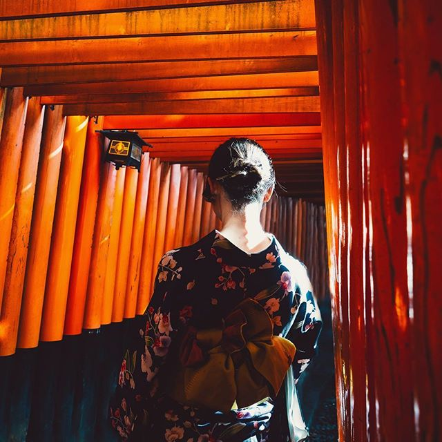 ⛩ the Fushimi Inari Taisha Shrine and a very lucky moment ⛩ I still can't quite believe I got a shot that didn't include a gazillion humans, and with only minutes to shoot!! But even with the busy crowds (which kinda freak me out btw) I'd still consider this place a must-see on a visit to Japan. 🎋🇯🇵⛩🧡 @visitjapanau #visitjapanau