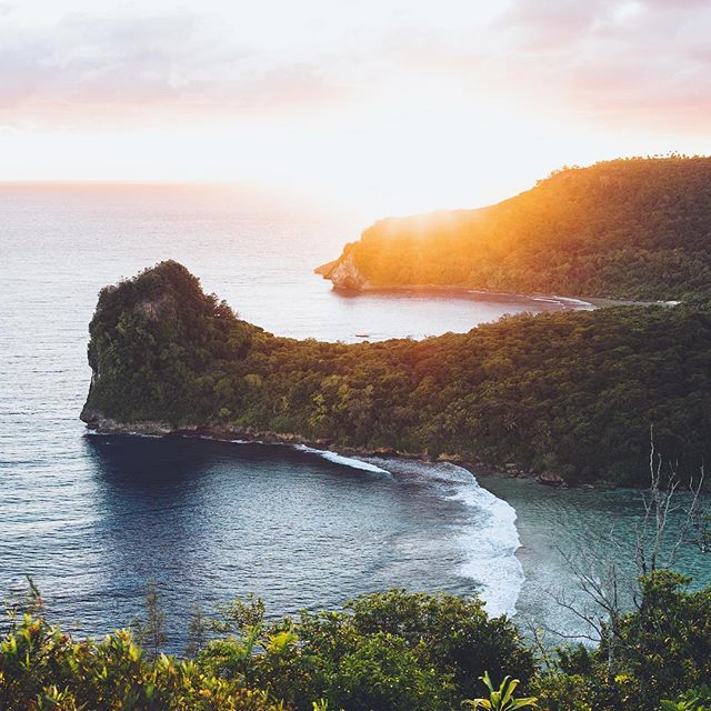 Sunrise on the cliffs of Vava'u in the Kingdom of Tonga 🧡 My trip to this magical place with @olympus_au earlier in the year to swim with and photograph the majestic humpback whales, was the highlight of my life, an absolute dream beyond dreams to come true, running a pretty close second to the creation and birthing of my two beautiful daughters, and the infinite love and joy they fulfil me with each and every day. 🙊❤️👭🐋 I still haven't been able to find the right words for it all yet, or even feel like any of my photos do justice or are ready to share, but when I do, something exciting is going to become a reality... 🤫 shhhhhhh I cant even yet!! 😝❤️❤️🐋 #olympusinspired #omdem1markii