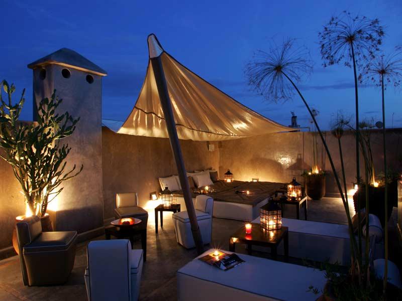 Roof terrace, Riad Dar One