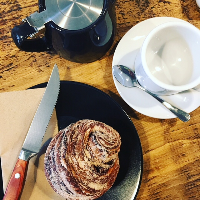 The freezing cold led us to the brand new  Hoxton Bakehouse , a new firm favourite with its amazing cinnamon buns and coffee.