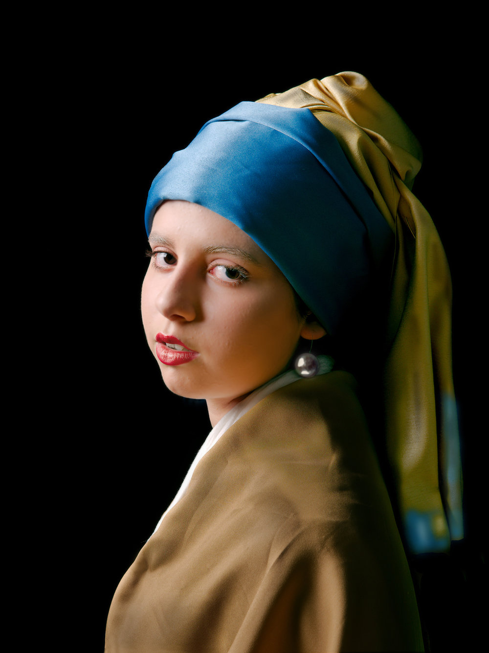 21st century Girl with a Pearl Earring