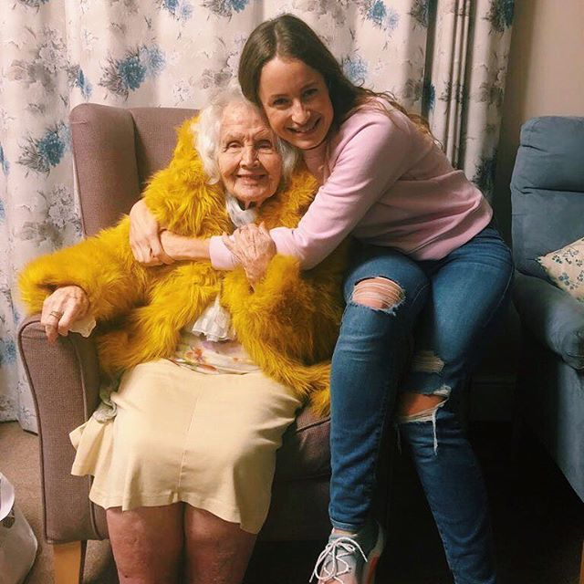 She is 100 years old next year and is still as big a flirt as ever 😉 she is a joy to be around, and inspires me to be my best self and have so much fun doing it⭐️ Nana, you're the best nana ever ♥️ . . #celebration #spiritualgangster #bekind