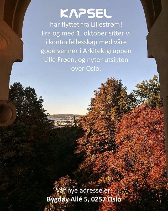 Kapsel på flyttefot!  Vi gleder oss til en ny hverdag i Oslo sentrum 🌁☀️
