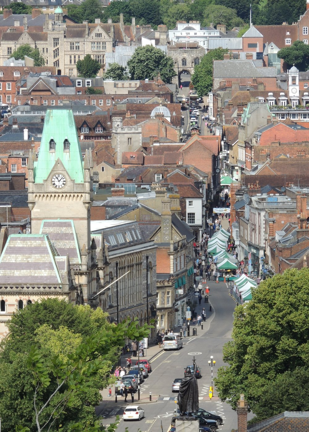 And finally - No description of Winchester would be complete without mentioning the High Street
