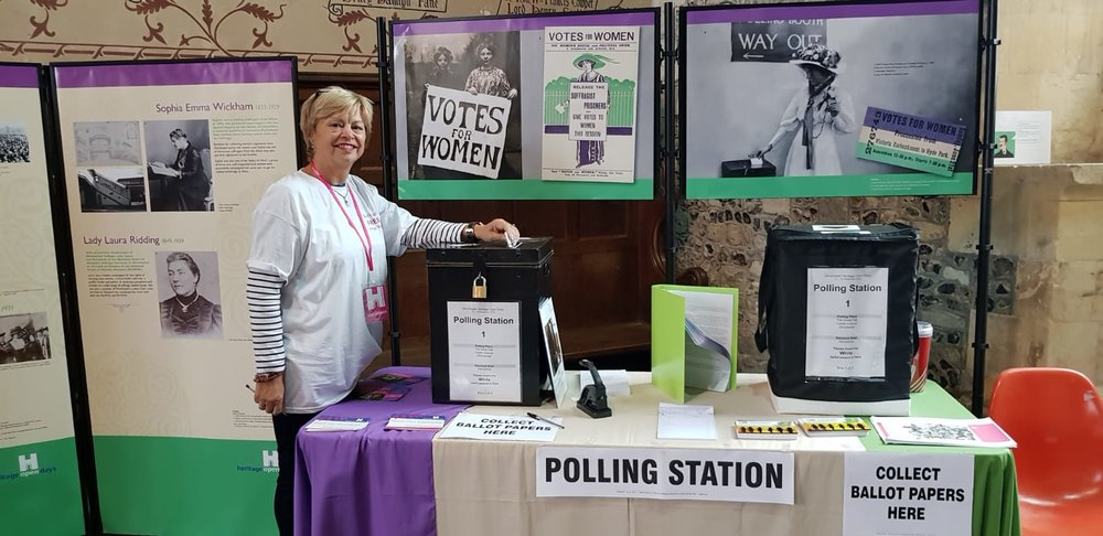 Volunteer Pauline casts her vote in our Extraordinary Women of Hampshire election. I wonder if Pauline voted for Josephine?!