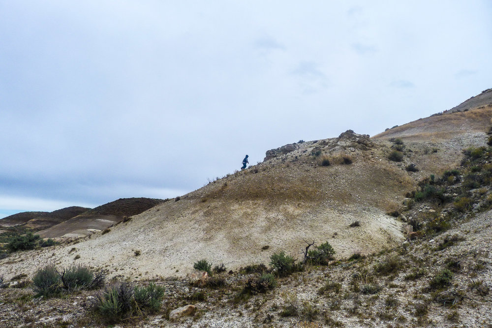 The boys climbed dunes and scared mama with their head-long runs down.