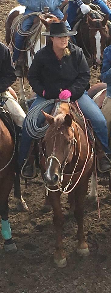 Bowynn Ashworth at a ranch rodeo in Utah.