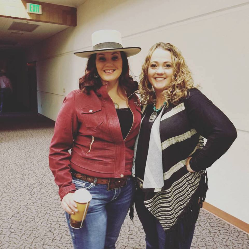 Jessica Hedges and BoWynn Ashworth in Escalante, UT at Jess' cowboy poetry performances.