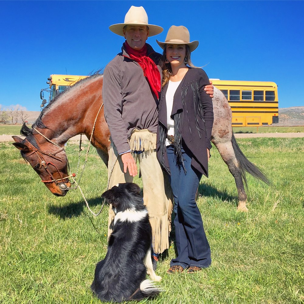 Ashley pictured with Jon Griggs of Maggie Creek Ranch, Elko, NV and one of Ashley's mentors.