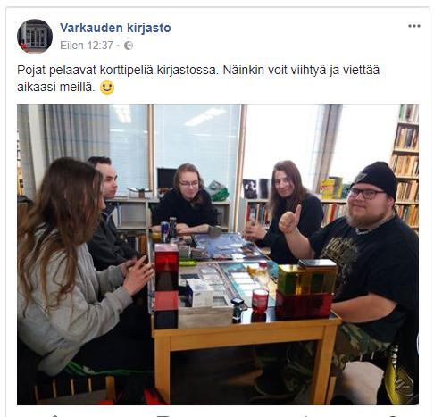 Tampereen vuosikokouksesta estyneet Itä-Suomen jäsenemme järjestivät oman paikallismiitin Varkauden kirjastossa.