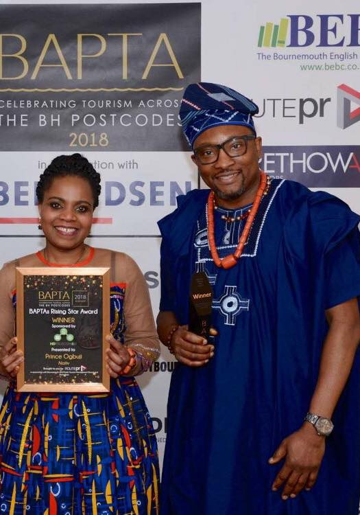 Prince & his wife showing off their BAPTA award