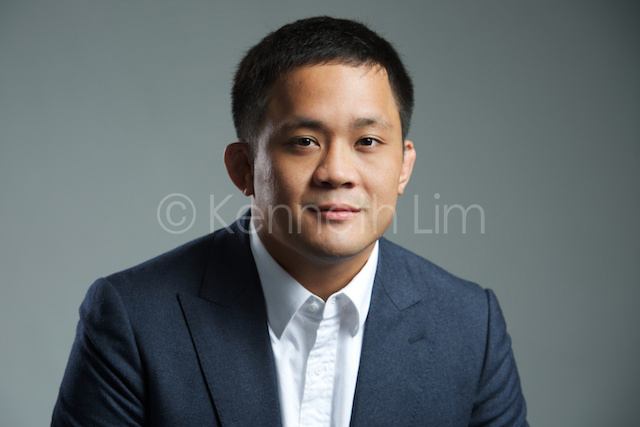 hong kong corporate headshot plain gray background male