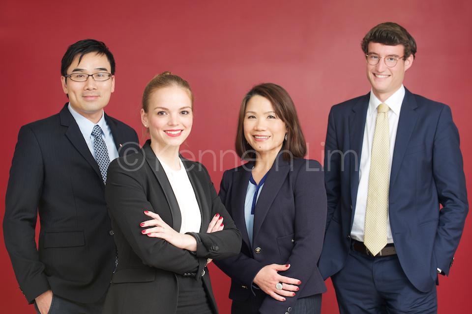 Group corporate headshots Hong Kong Central executive team photo
