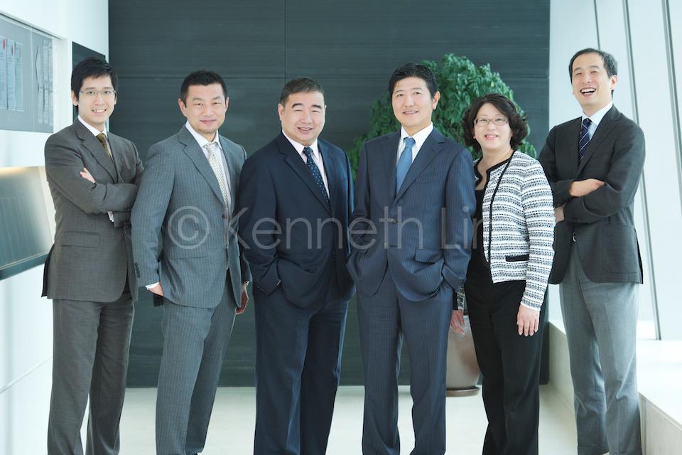 Group corporate headshots Hong Kong Central executives together group photo