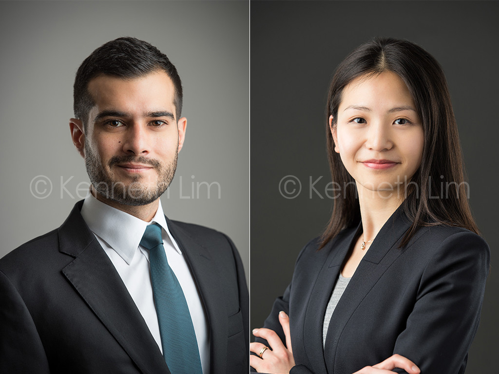 corporate headshot hong kong male female smiling dark background