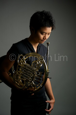 portrait of horn player