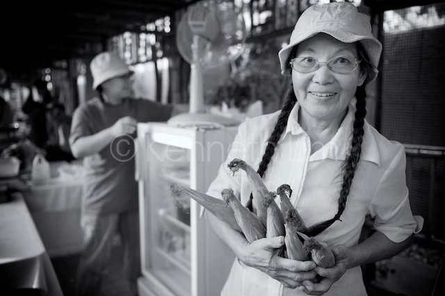 Jeannie Tong at Tai Po Farmers Market