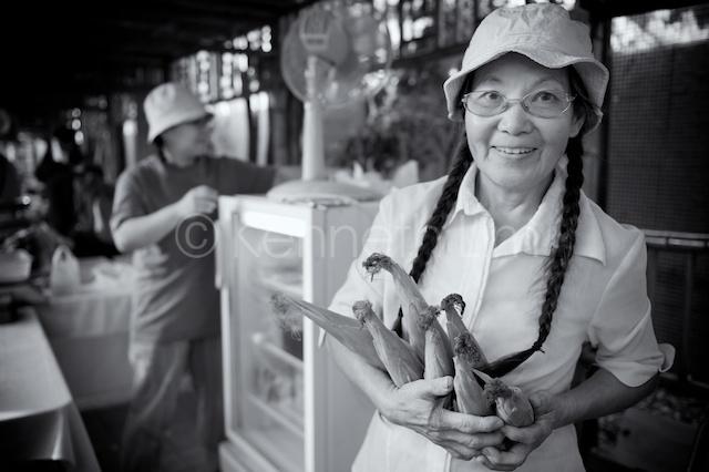 Jeannie Tong at Tai Po Farmers Market