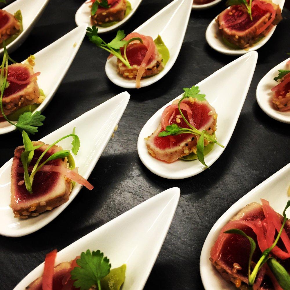 Tuna, Avo and Wasabi Canape.JPG