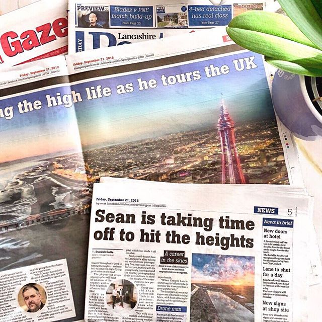 Some great coverage for our client #BespokeHealthcare @greaterlancashirehospital on their sponsorship of one of the UK's top drone photographers @iamsean2's adventure around the UK.