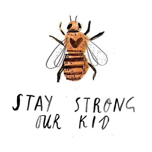 It has been an emotional day in Manchester today, but we could not be prouder to call ourselves adopted Mancunians and live & work in this truly incredible city. A horrendous act designed to divide us, has only shown an outpouring of strength and love of people coming together.  THIS IS THE PLACE.🐝 . And there's hard times again in these streets of our city  But we won't take defeat and we don't want your pity  Because this a place where we stand strong together  With a smile on our face, Mancunians Forever