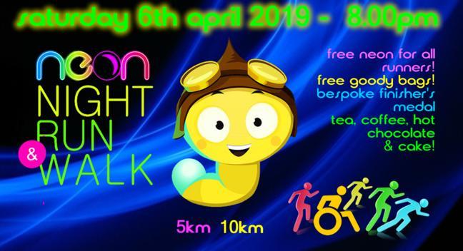 Neon night run 2019 with ywca yorkshire! -