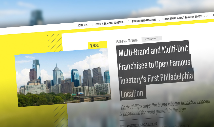 Famous Toastery in Philadelphia