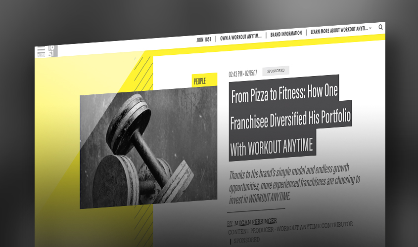 Pizza to Fitness Franchisee