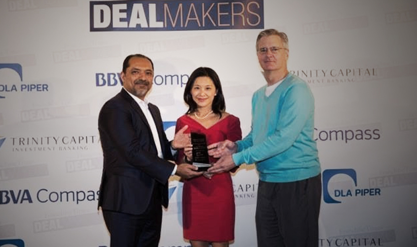 NRD Capital receiving the 2016 Deal of the Year award