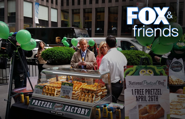 Philly Pretzel Factory on Fox & Friends