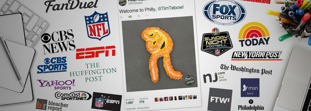 Philly Pretzel Factory Tim Tebow Coverage