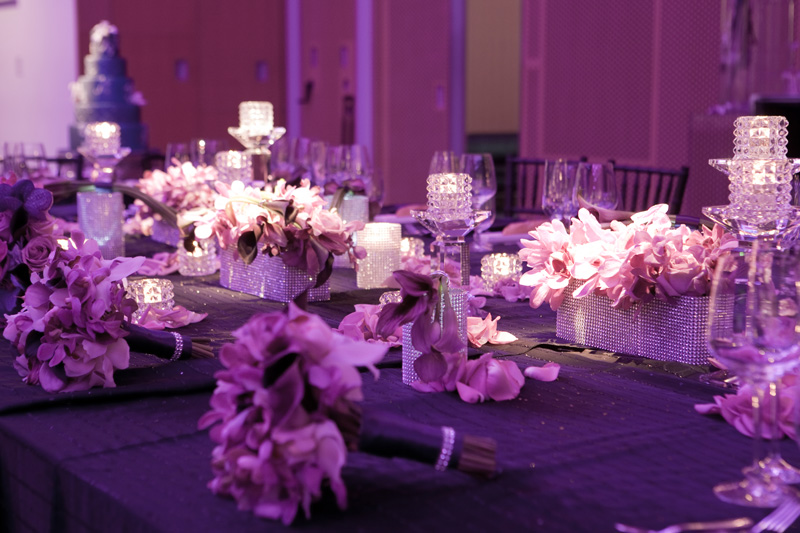 Purple Was The It Colour For 2010 And This Wedding Shows With Passion A Cool Modern Vibe