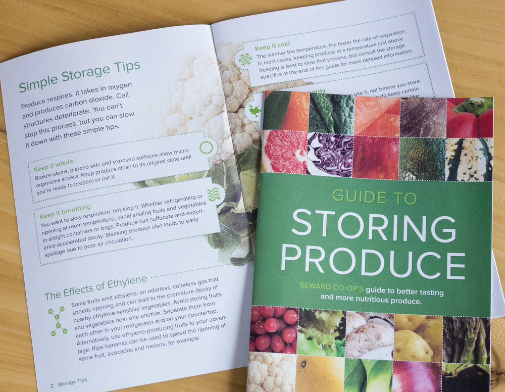 Consolidated, edited, and designed a streamlined and accessible guide educating consumers on a variety of produce tips and storage techniques. The guide was so well-received, NCG purchased the design
