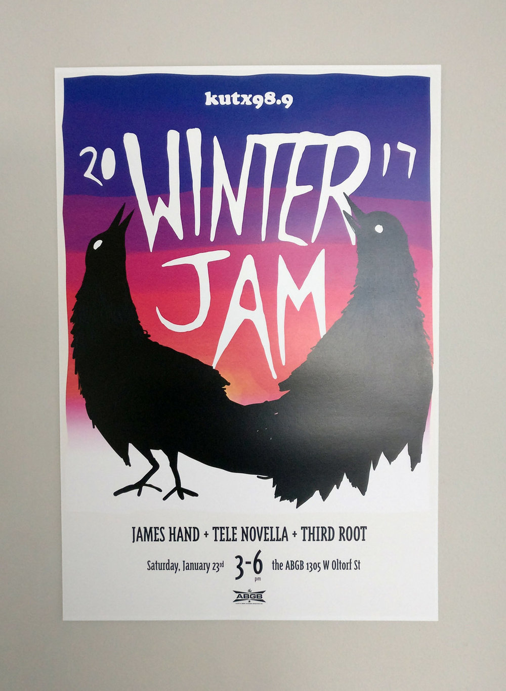 Designed and illustrated poster for KUTX 98.9.