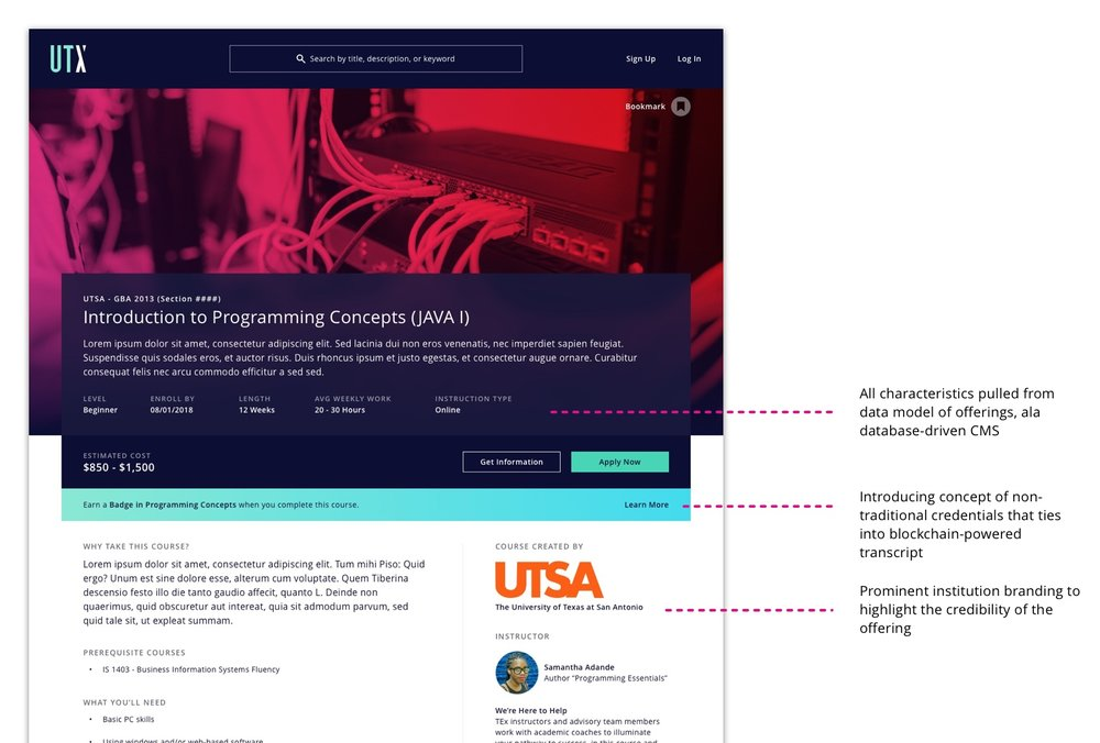 Refined Course Page
